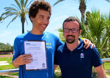 PADI Professional courses in Malaga and Marbella, Spain