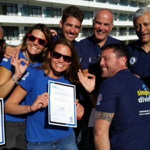 Great success at a PADI Instructor Exam
