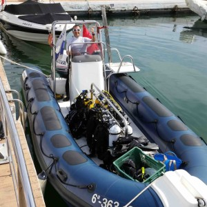 RIB is loaded and ready in Marbella Port